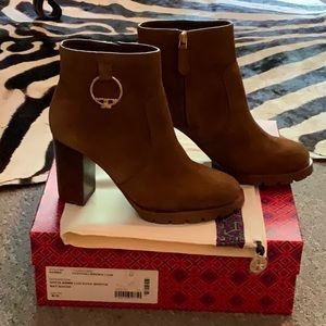 Tory Burch Sofia bootie 6.5 brown suede